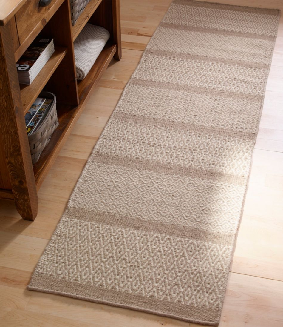 "Patterned Wool Flat Weave Rug 2'3""x8'"