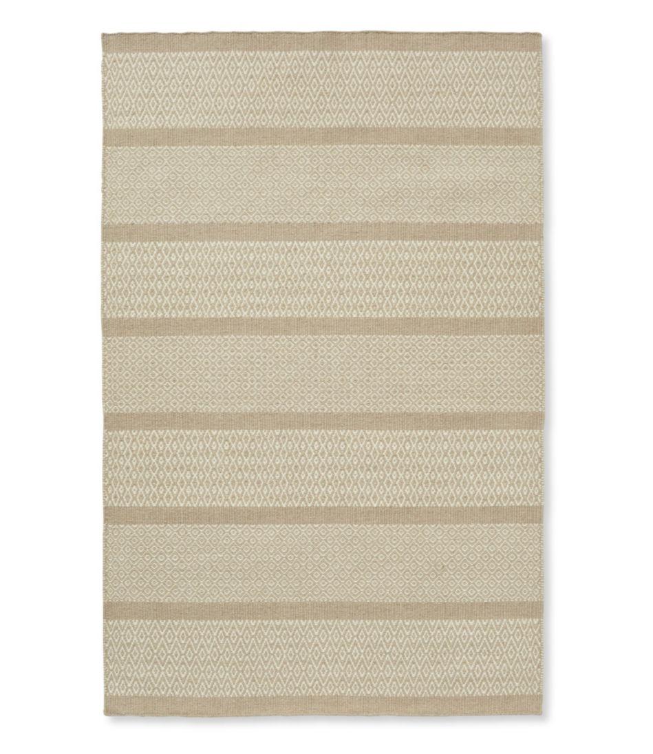 Patterned Wool Flat-Weave Rug