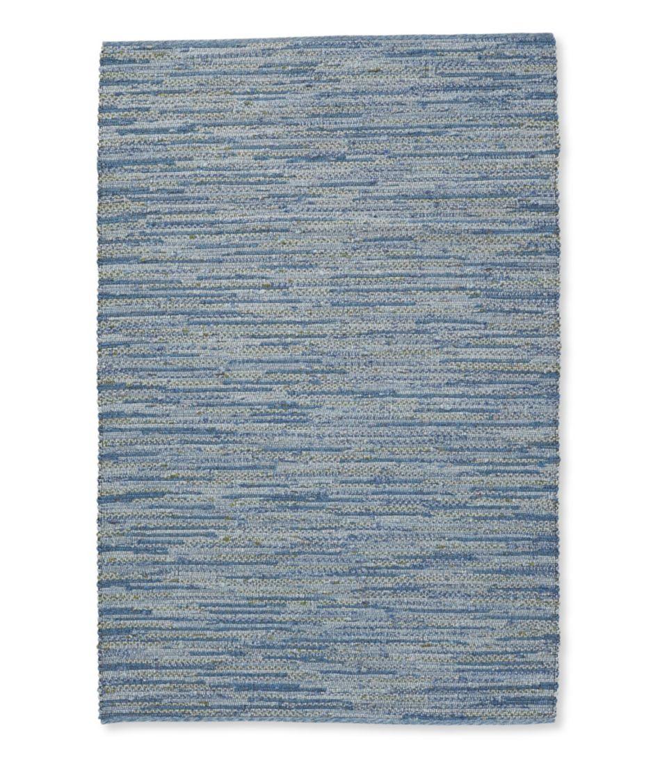 Indoor/Outdoor Textured Stripe Rug, Blue Multi
