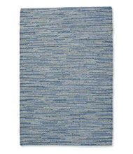 Indoor/Outdoor Textured Stripe Rug, Blue Multi