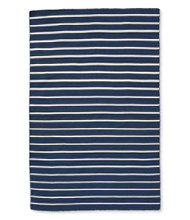 Indoor/Outdoor Mini-Stripe Rug, Navy