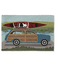 Indoor/Outdoor Vacationland Rug, Kayak