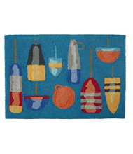 Indoor/Outdoor Vacationland Rug, Buoys