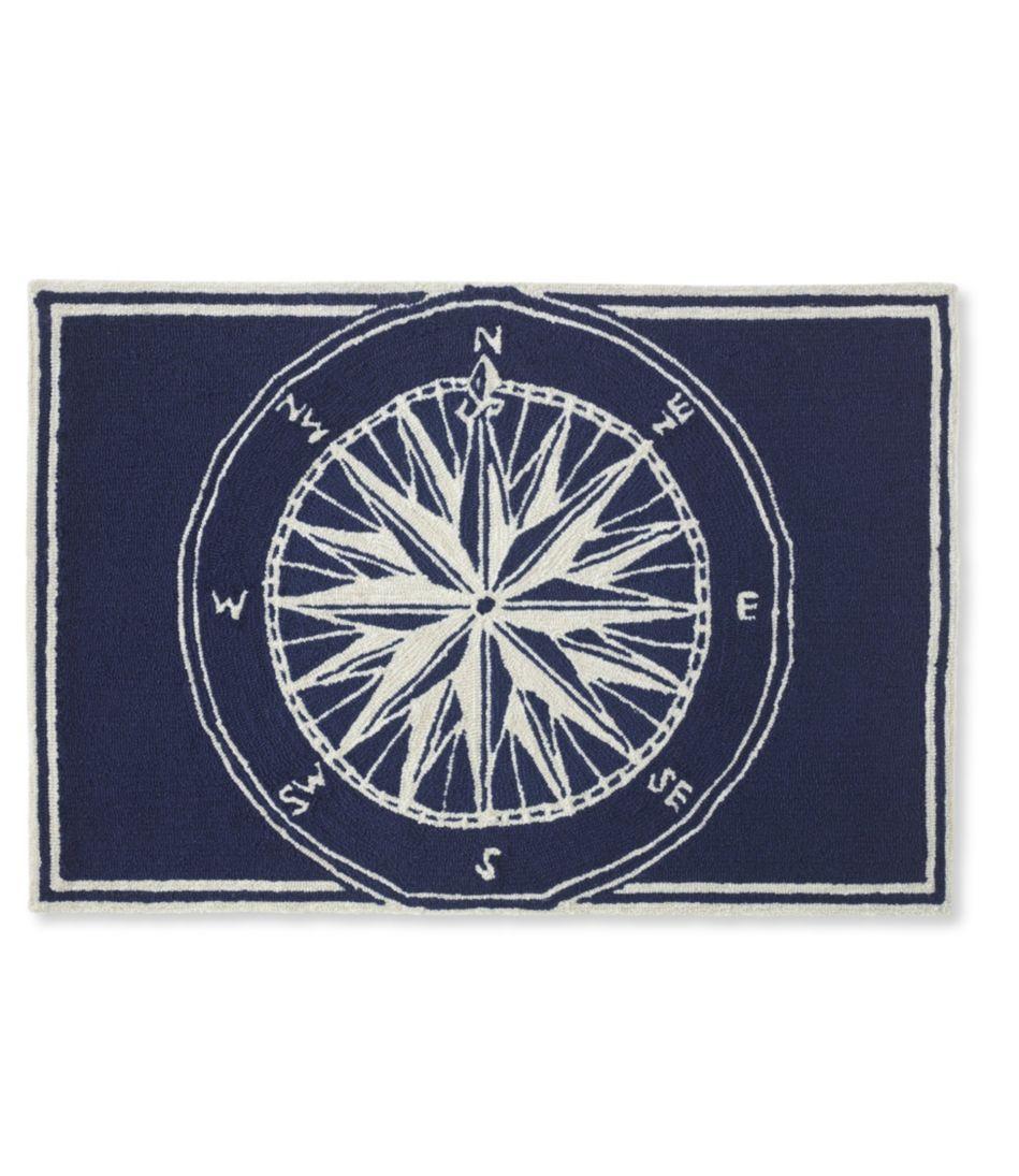 Indoor/Outdoor Vacationland Rug, Compass