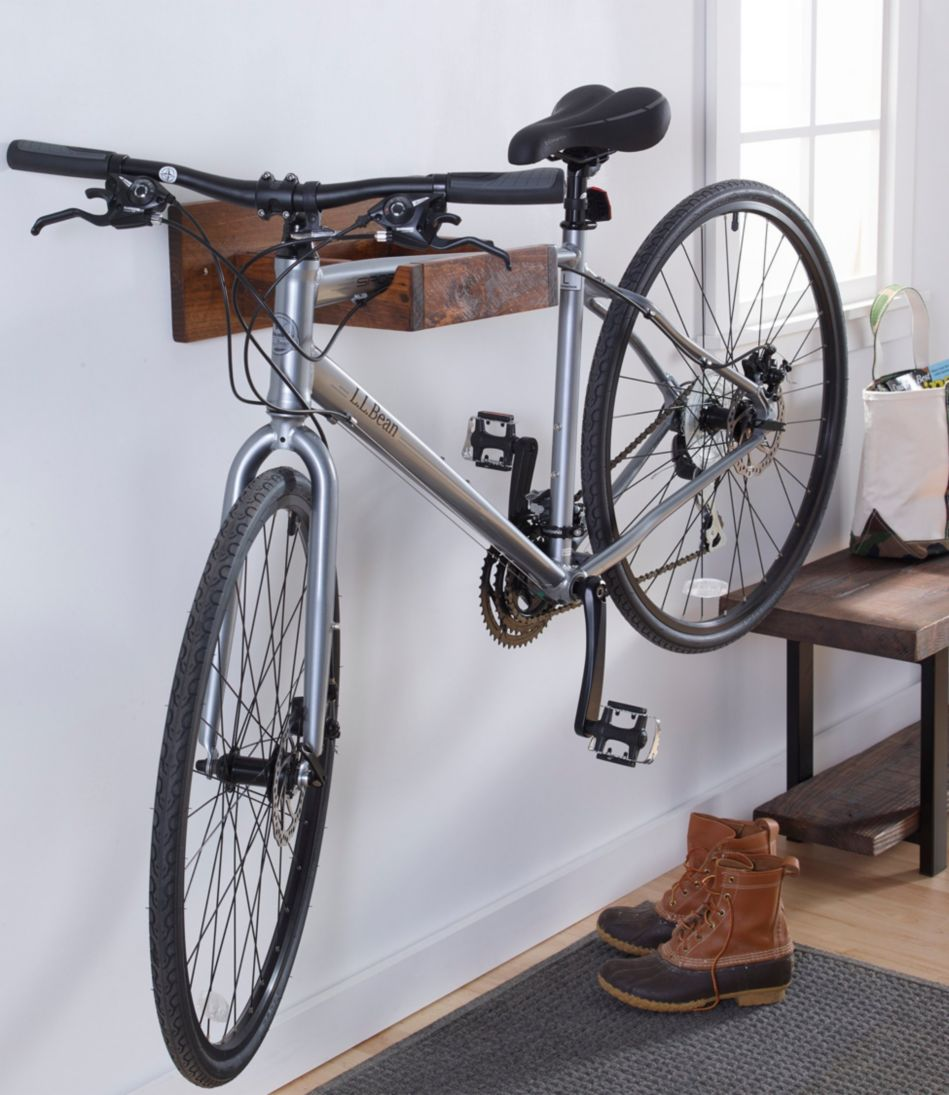 Rustic Wooden Bike Rack