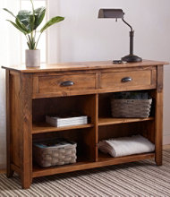 Rustic Wooden Grand Console