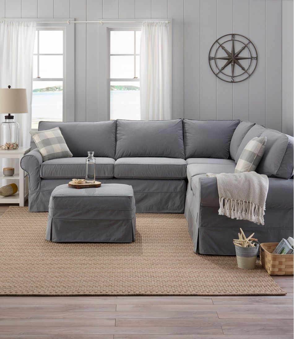 Sofa With Chaise Slipcover Sawyer 2 Piece Small Slipcover ...
