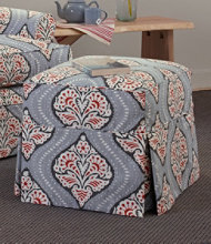 Slipcovered Ottoman, Medallion