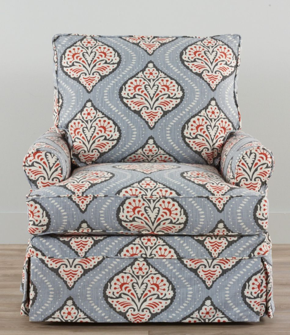 Slipcovered Swivel Glider, Medallion