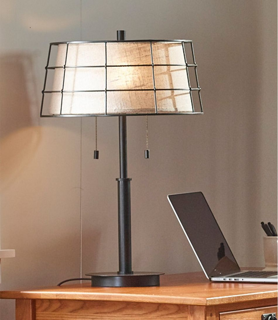 Steel Caged Lamp