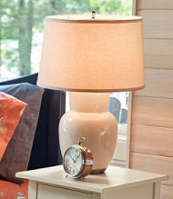 Crackle Finish Ceramic Lamp