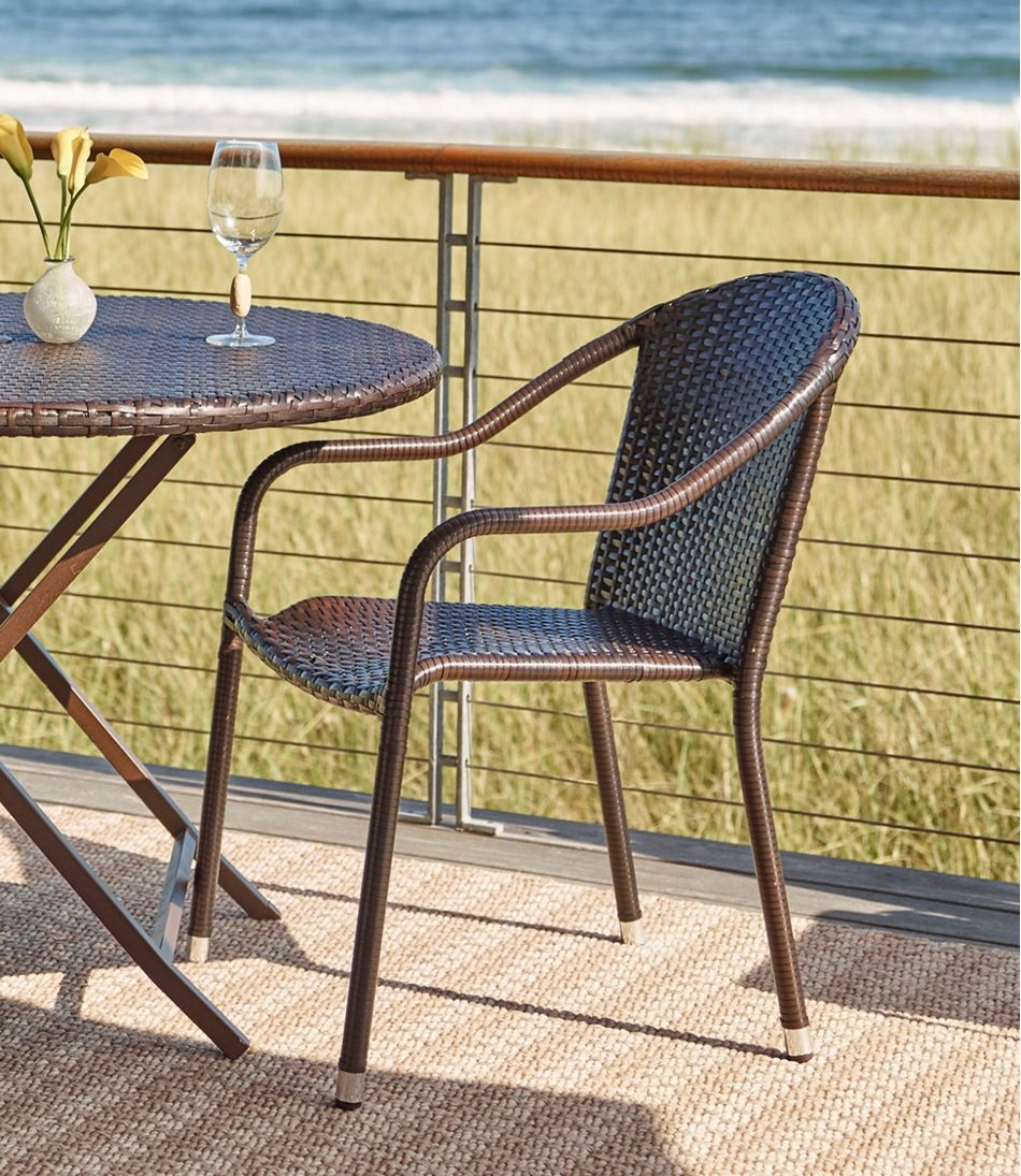 Wicker Stackable Bistro Chairs Set Of Two