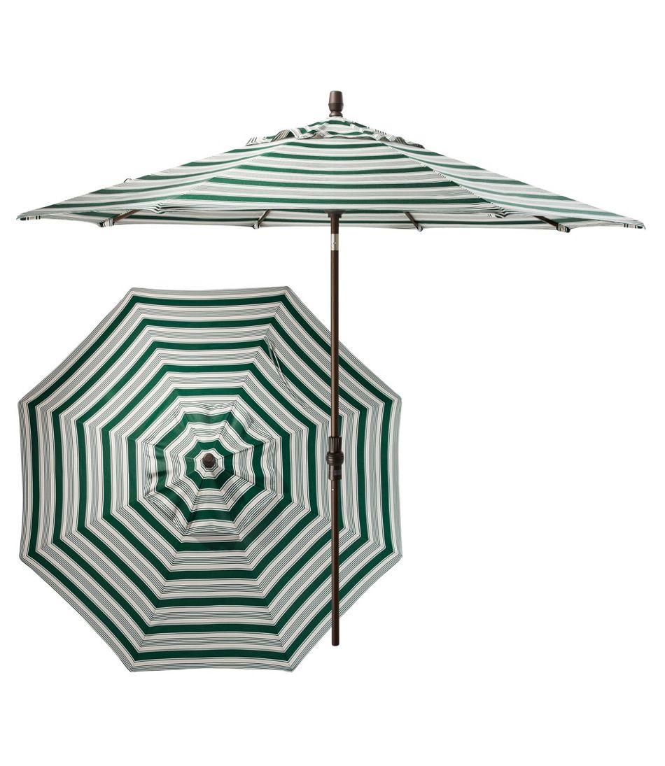 Sunbrella Market Umbrella, Aluminum Stripe