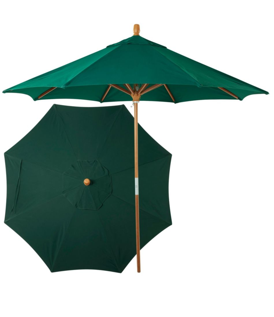 Sunbrella Market Umbrella, Wood