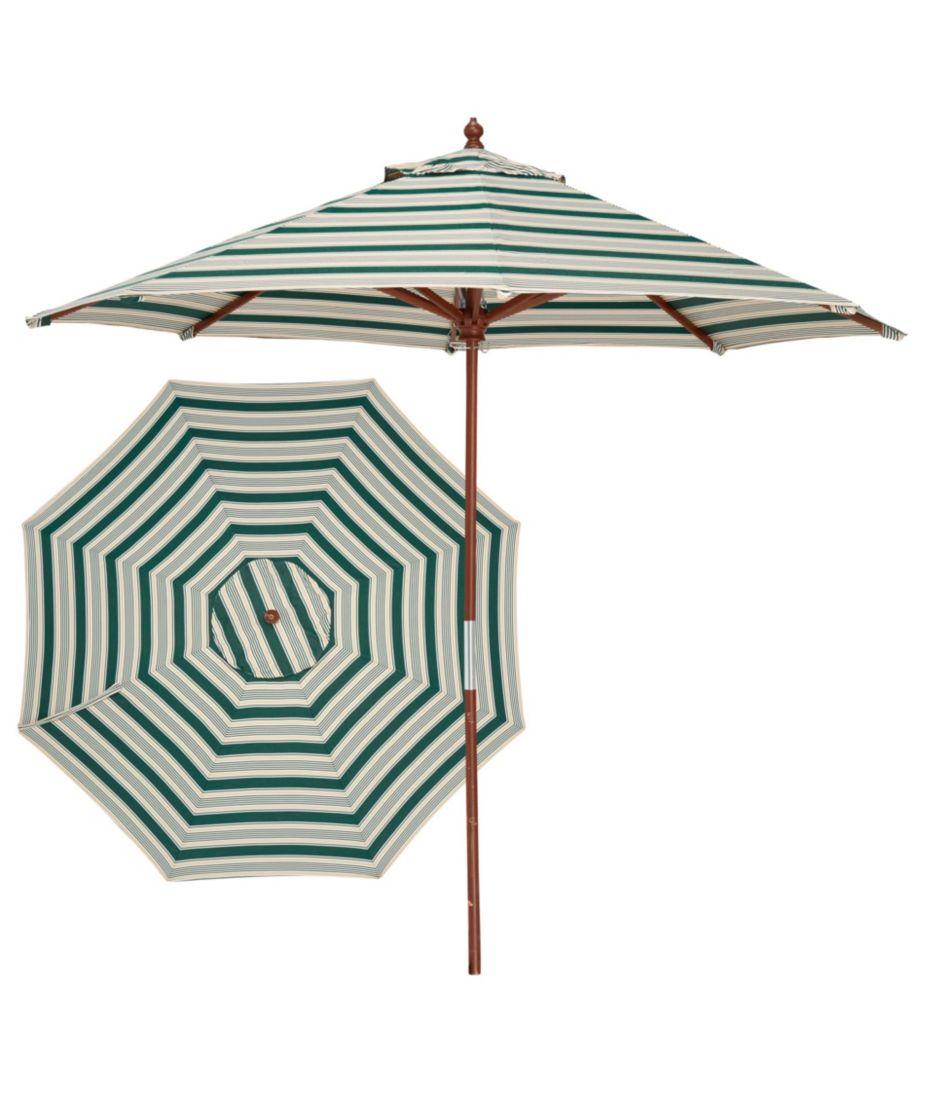 Sunbrella Market Umbrella, Wood Stripe