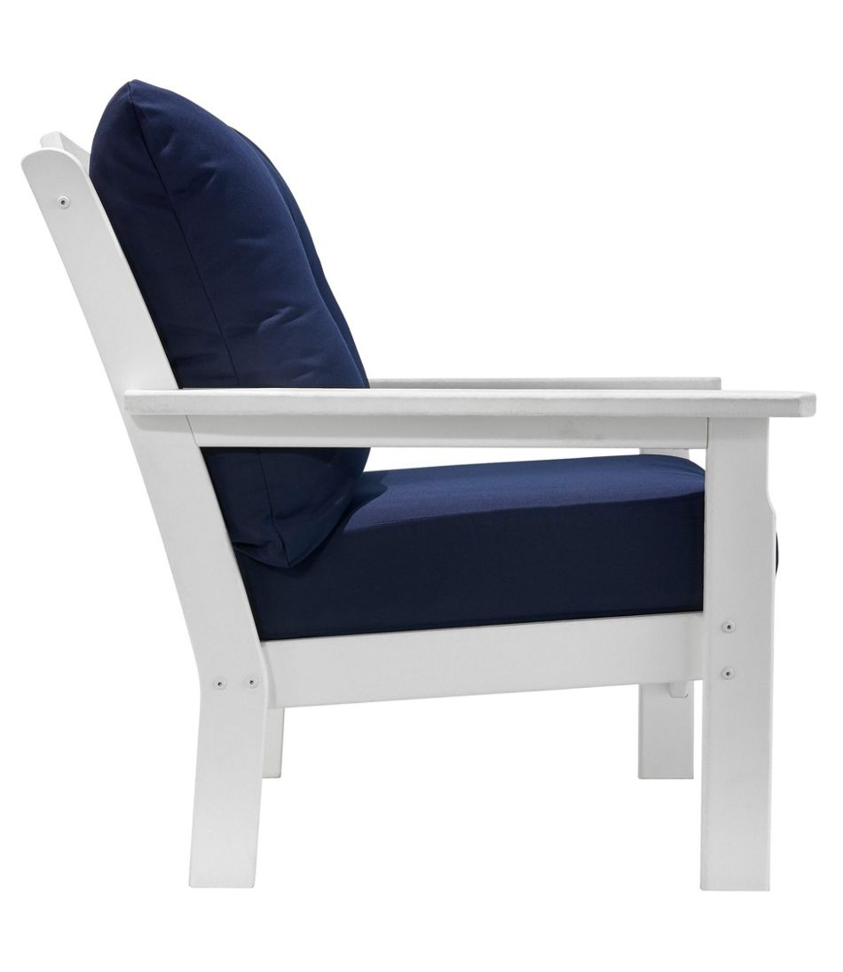 All-Weather Patio Chair with Navy Cushion