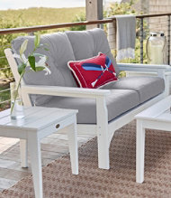 All-Weather Patio Settee with Granite Cushion