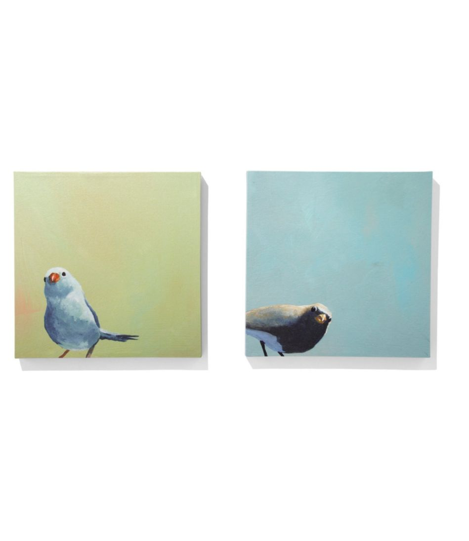 Canvas Wall Art, Blue Birds Set of Two