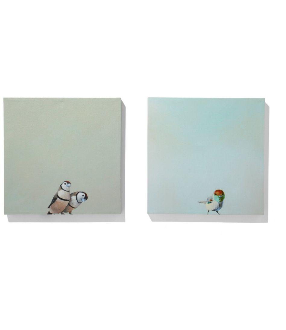 Canvas Wall Art, Little Birds Set of Two