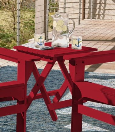 Adirondack Wooden Folding Side Table