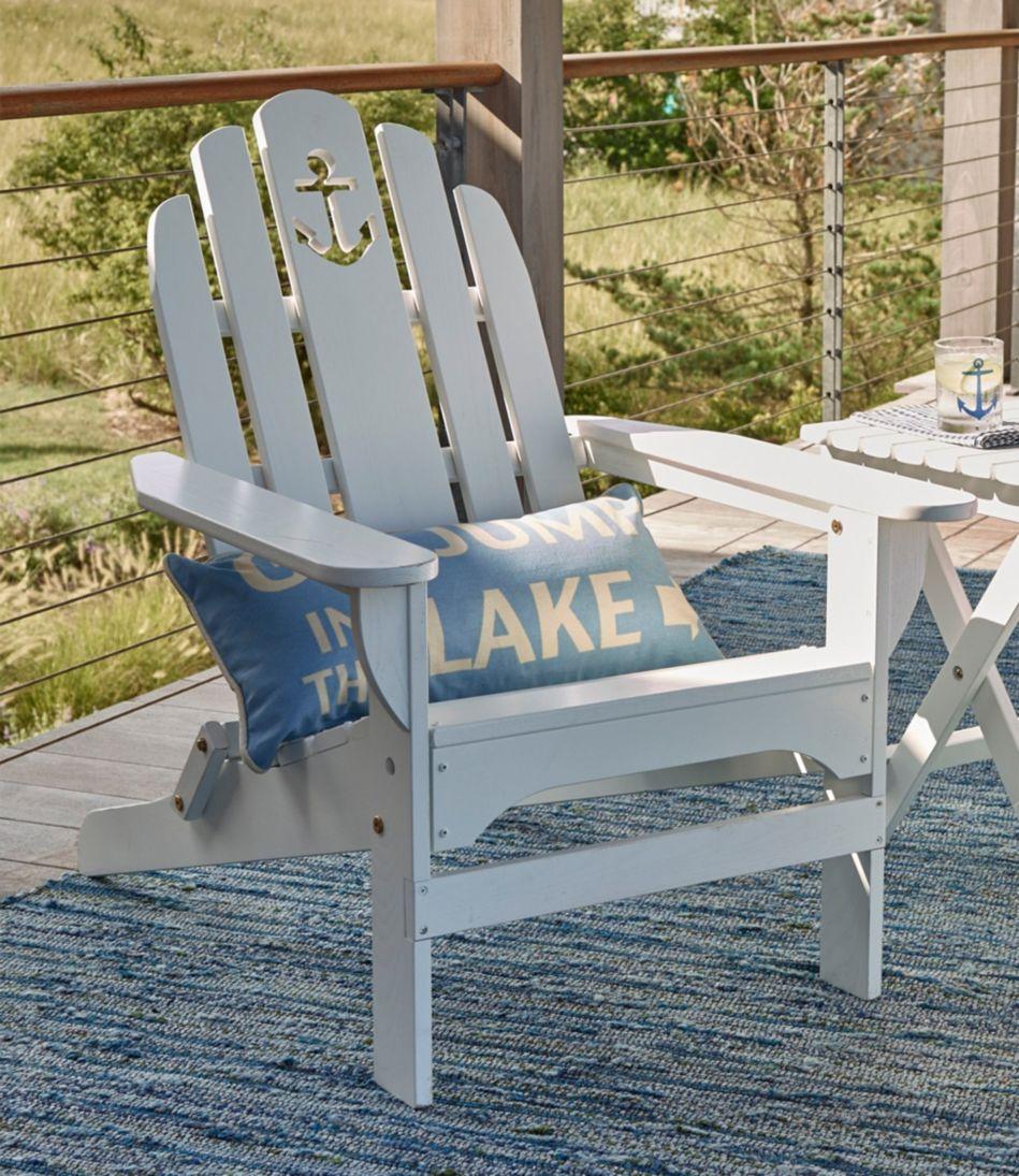 Wooden Adirondack Chair, Anchor Cutout