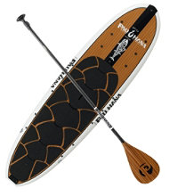 Pau Hana Big EZ Angler Ricochet Stand Up Paddle Board Package, 11'