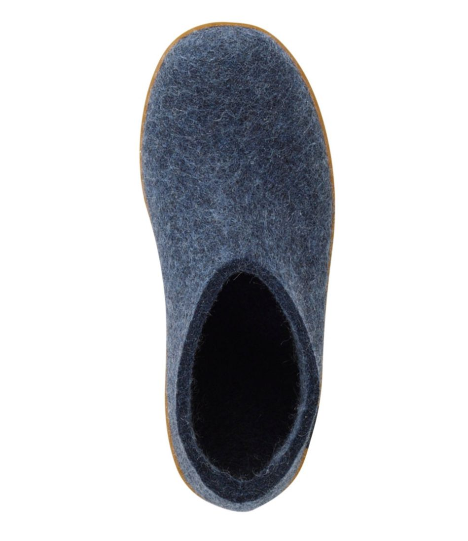 Adults' Glerups Wool Slipper Shoes, Rubber Outsole