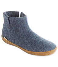 Adults' Glerups Wool Slipper Boots, Rubber Outsole