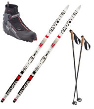 Rossignol EVO XC 50 Ski Set with Women's X5 FW Boots
