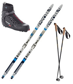 Adults' Rossignol EVO XC 60 IFP Ski Set with X5 Boots