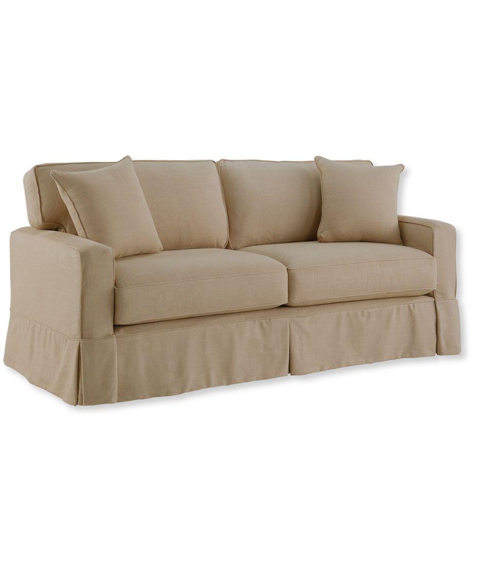 Slipcovered Square Arm Sofa