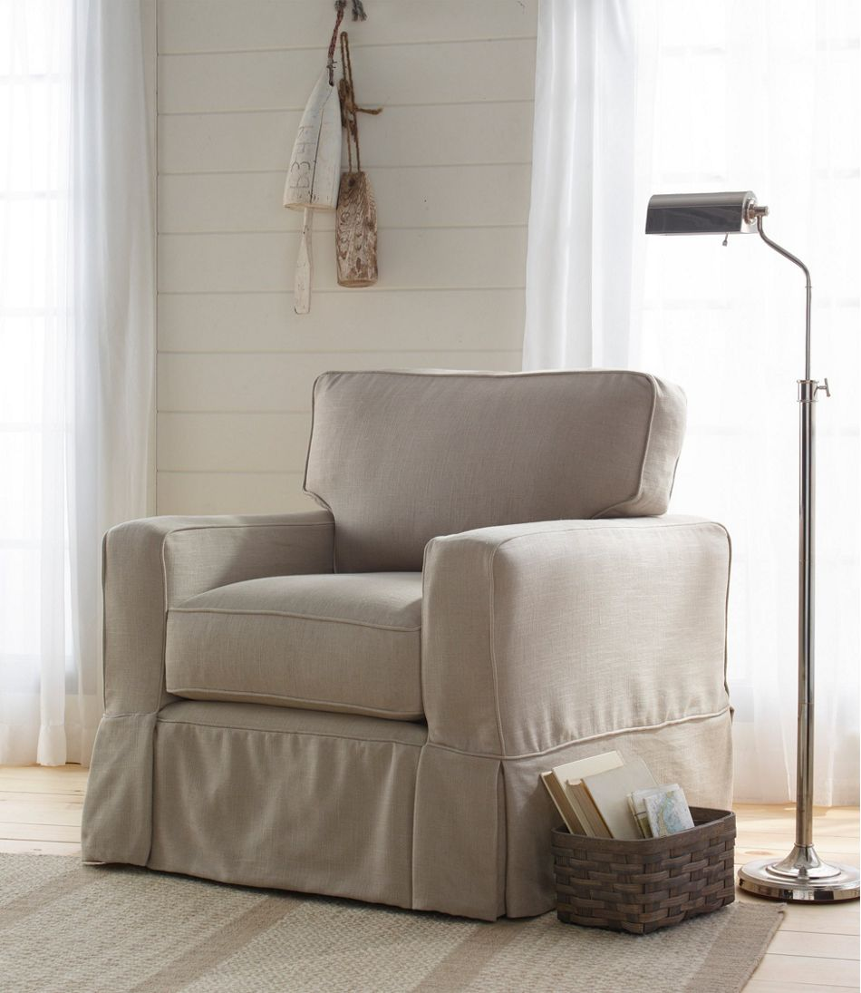 Slipcovered Square Arm Chair