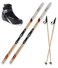L.L.Bean Heritage Edition Adventure 62 NIS Ski Set with XC Control Boot