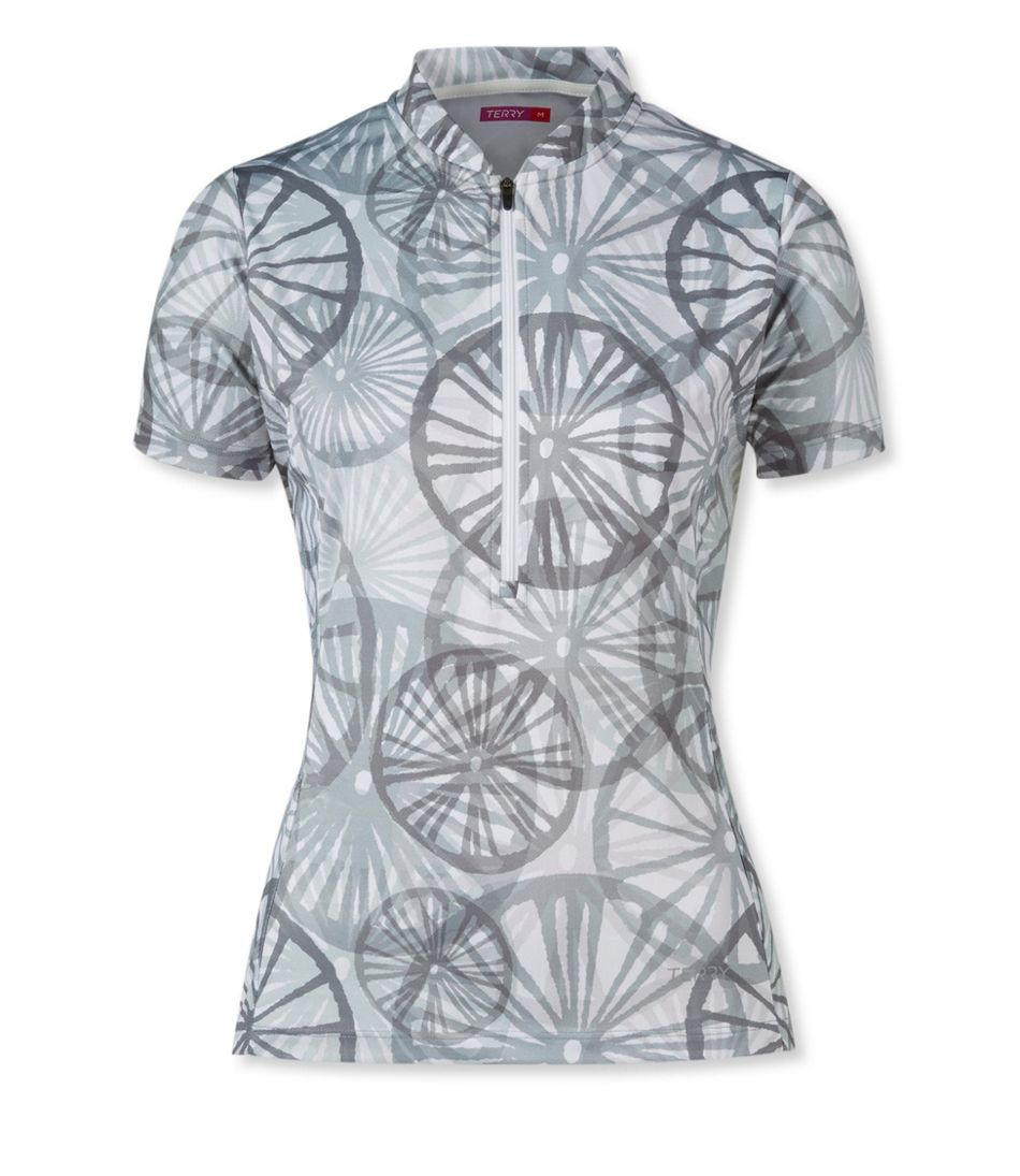 Terry Breakaway Mesh Cycling Jersey, Short-Sleeve