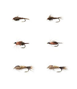 Umpqua Six-Piece All-Purpose Nymph Fly Selection