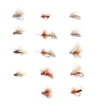 Umpqua 14-Piece Caddis Guide Fly Selection