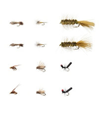 Umpqua 12-Piece Eastern Trout Fly Selection