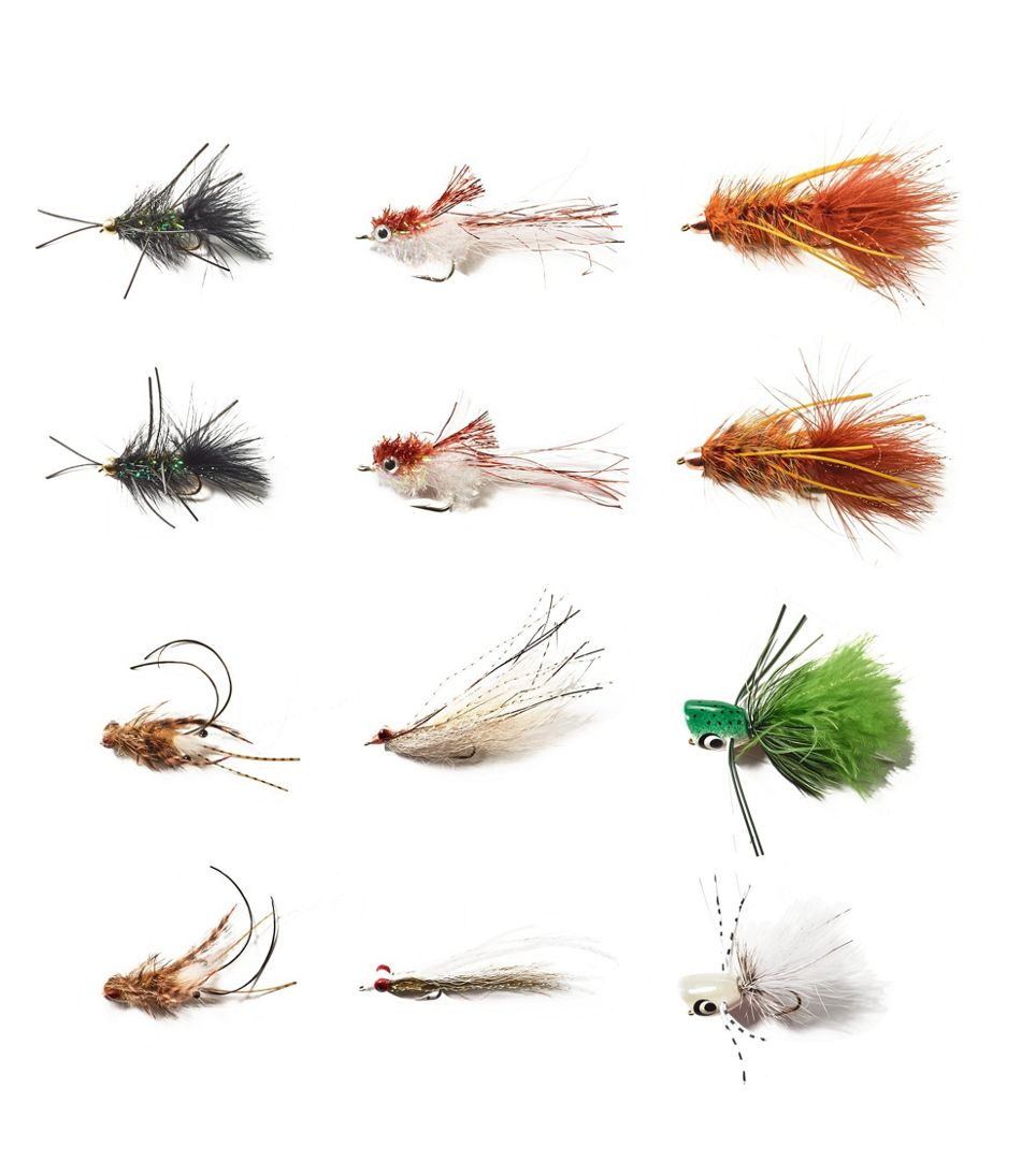 Umpqua 12-Piece Smallmouth Bass Fly Selection