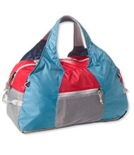 L Bean Stowaway Duffle Bag Multicolored