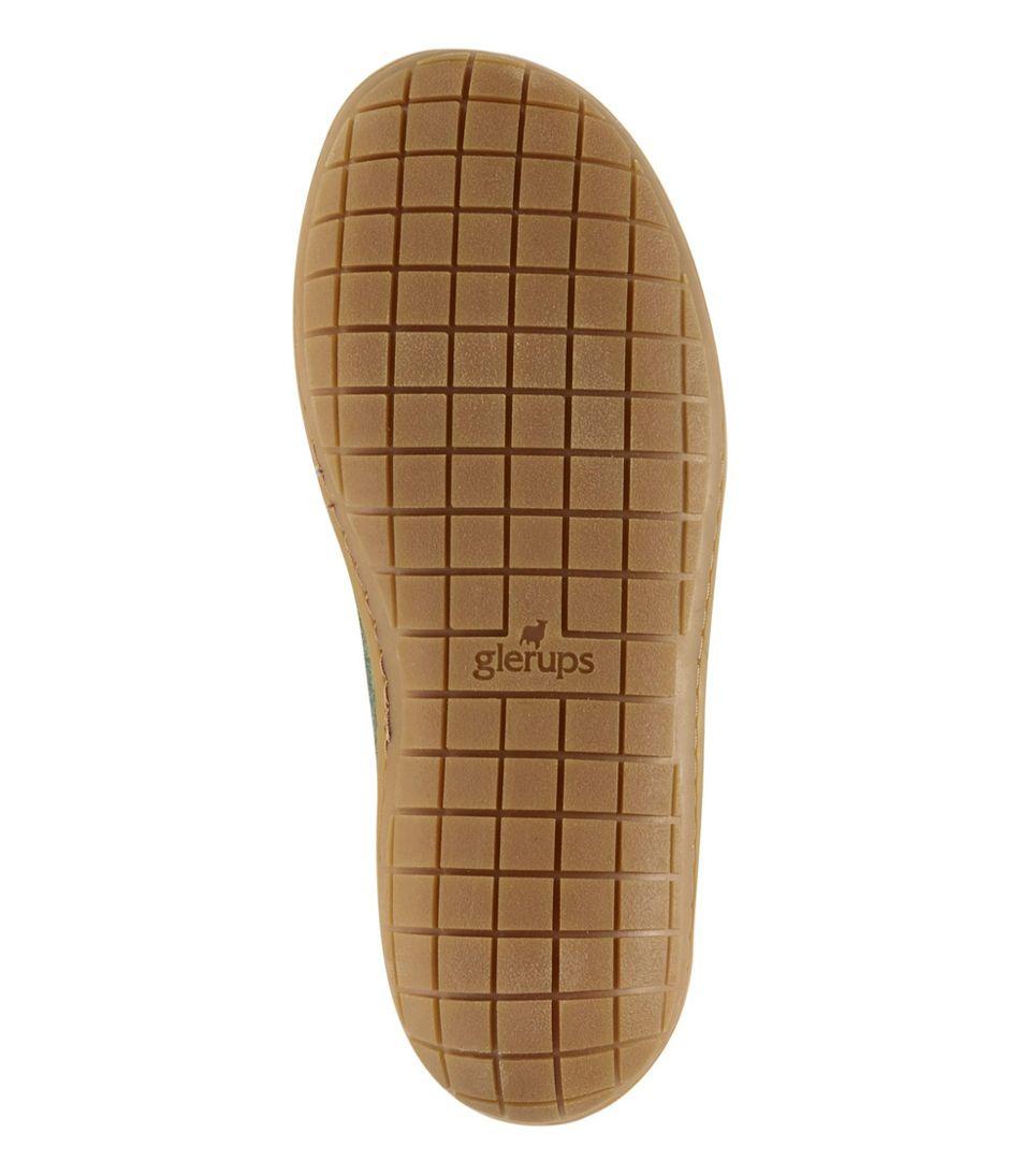 Adults' Glerups Wool Slippers, Open Heel Rubber Outsoles