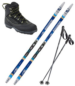 Adults' Rossignol Back Country 65 Mounted Ski Set with Back Country X4 Boots