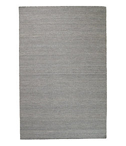 Indoor/Outdoor Pencil Stripe Rug, Charcoal