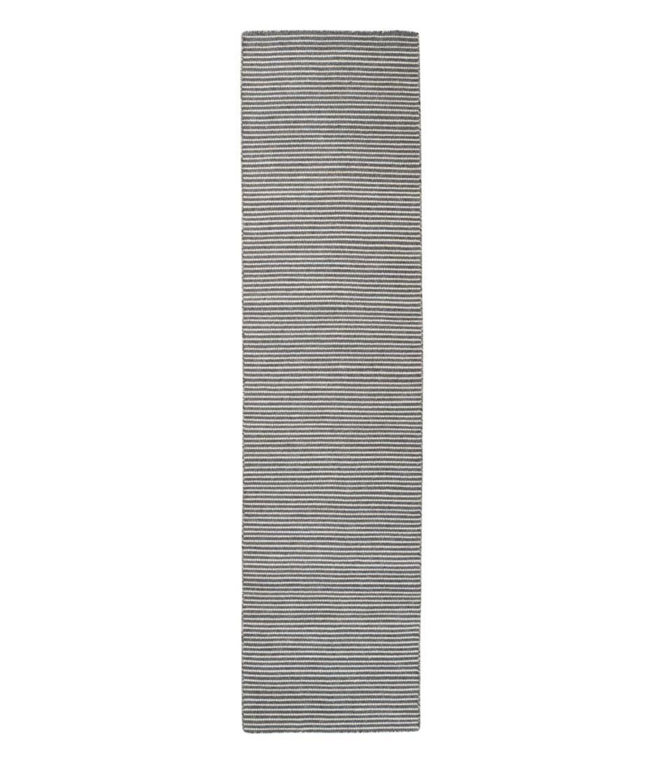 Indoor/Outdoor Pencil Stripe Runner, Charcoal