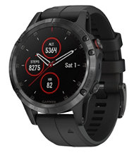 Garmin Fenix 5 Plus GPS Fitness Watch, Sapphire