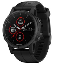 Garmin Fenix 5S Plus GPS Fitness Watch, Sapphire