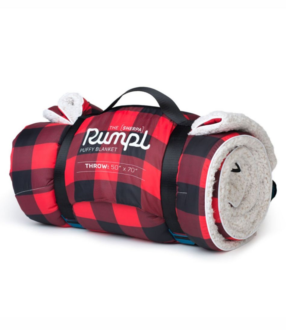 Rumpl Sherpa Puffy Blanket, Plaid