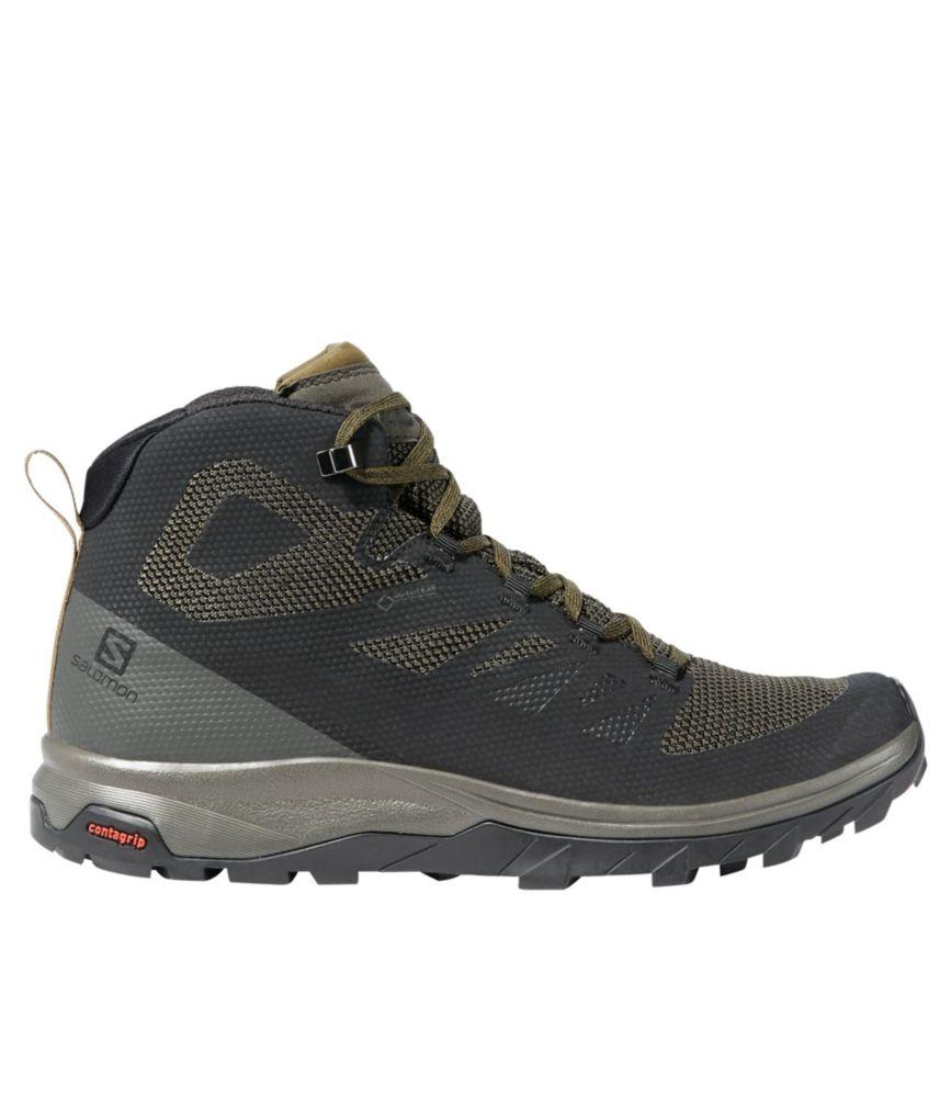 salomon outline gtx hiking shoes mens white