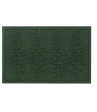 Everyspace Recycled Waterhog Doormat, Fir Trees