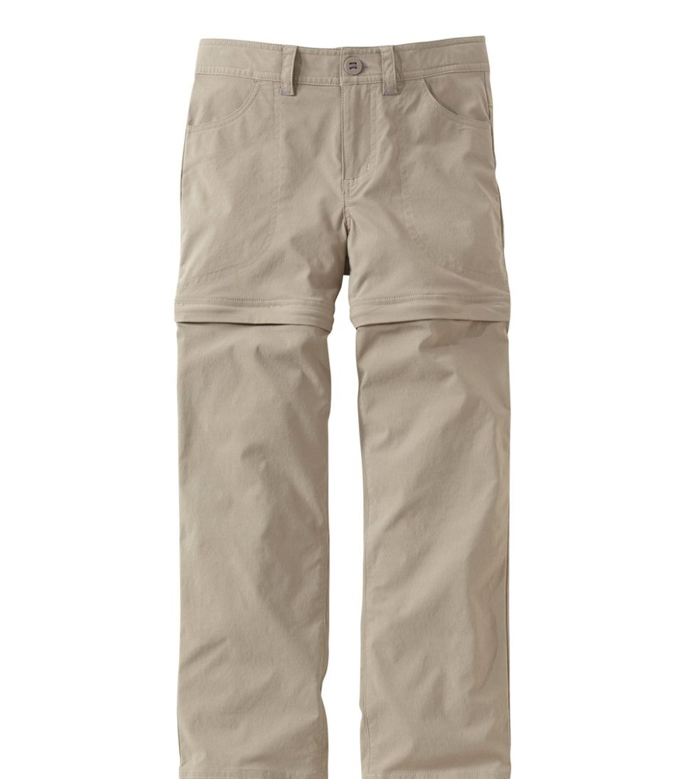 Girls' Trekking Zip-Off Pants with Stretch