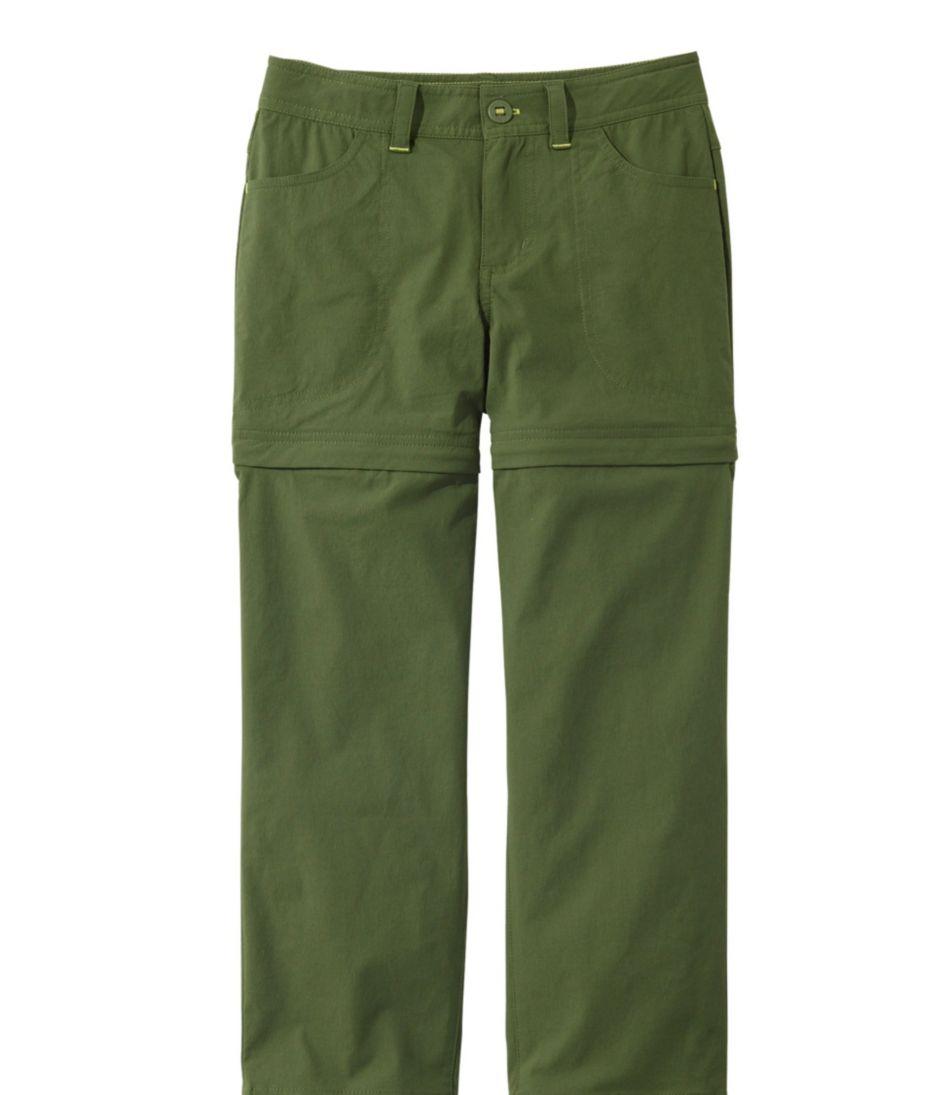 Girls' Trekking Zip-Off Pants with Stretch